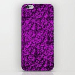 Vintage Floral Lace Leaf Dazzling Violet iPhone Skin