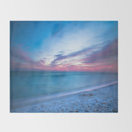 If By Sea - Sunset and Emerald Waters Near Destin Florida Throw Blanket