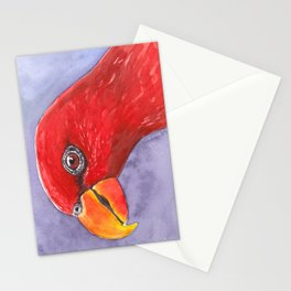 Lory parrot bird watercolor Stationery Cards