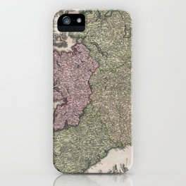 Vintage Map of Ireland (1716)  iPhone Case