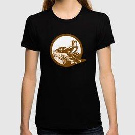 Tow Truck Wrecker Rear Retro T-shirt
