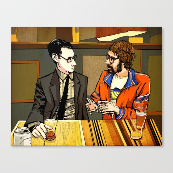 A Conversation About Acid at a Bar With No Name Canvas Print