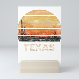 Texas T Shirt Vintage 1980s Style Desert Mini Art Print