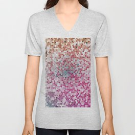 Orange Magenta Beautiful Pink Fantasy Colorful Pattern Unisex V-Neck