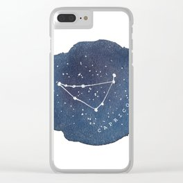 capricorn constellation zodiac Clear iPhone Case