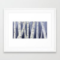 birch Framed Art Prints featuring Birch by Sarah Yee