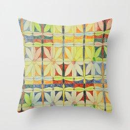 Dragonflies & Flowers Throw Pillow