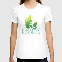 denmark T-shirts featuring Denmark by Stephanie Wittenburg