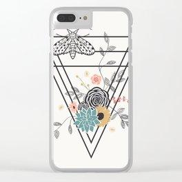 Geometric Nature Clear iPhone Case