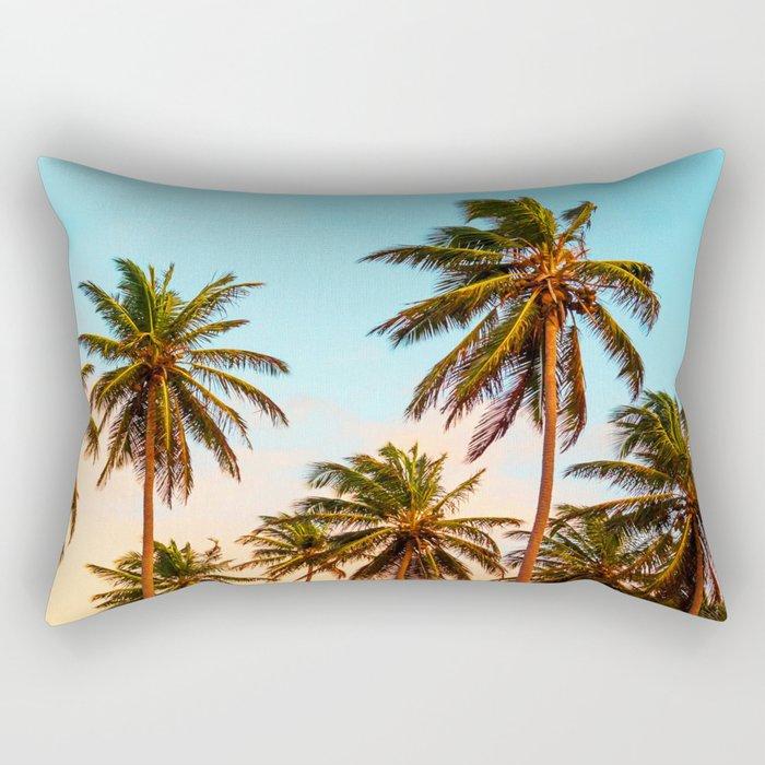Palms trees. Rectangular Pillow
