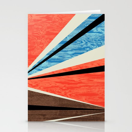 Graphic Woodgrain Stationery Cards