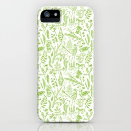 woodland walk acid green iPhone Case