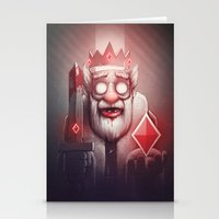 king Stationery Cards featuring King of Doom by Dr. Lukas Brezak