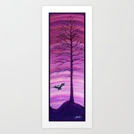 Happy Critter Tree no. 7 Art Print
