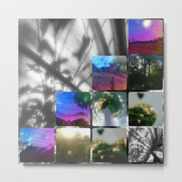 Kaleidoscope rainbow tinted glasses Metal Print