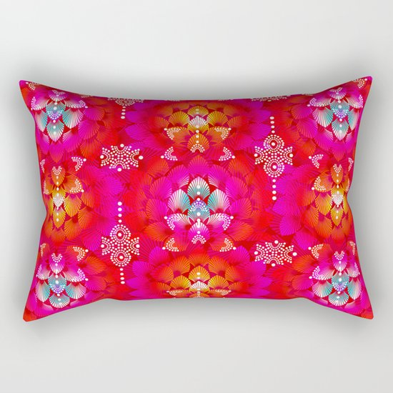 Variations on A Feather IV - Stars Aligned (Firebird Edition) Rectangular Pillow
