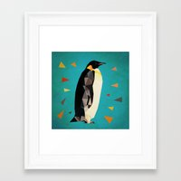 penguin Framed Art Prints featuring penguin by gazonula