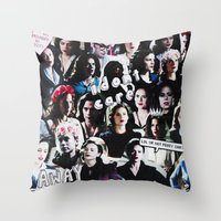 peggy carter Throw Pillows featuring Peggy Carter Sass by Long live the Evil Queen♔