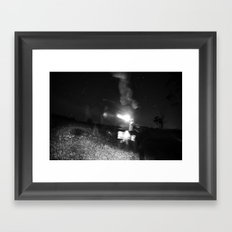 Midnight and her Wandering Ghost  Framed Art Print