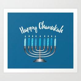 Happy Chanukah Art Print
