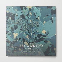 Escondido, United States - Cream Blue Metal Print