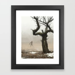 old apple tree Framed Art Print