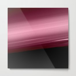 Merlot Wine Smooth Horizon Ombre Metal Print
