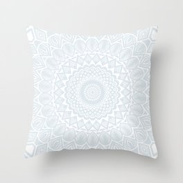 Minimal Minimalistic Light Cool Gray Mandala Throw Pillow