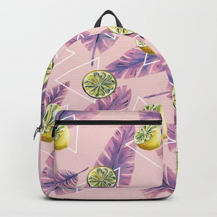 Banana leaf and lemons Backpack