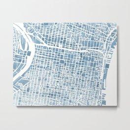 Philadelphia City Map Metal Print