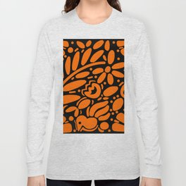 Beautiful Orange Otomi Long Sleeve T-shirt