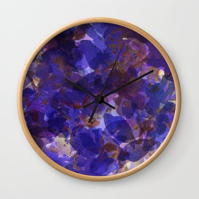 Deep Purple Violets Wall Clock