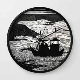 Disputed Waters Wall Clock