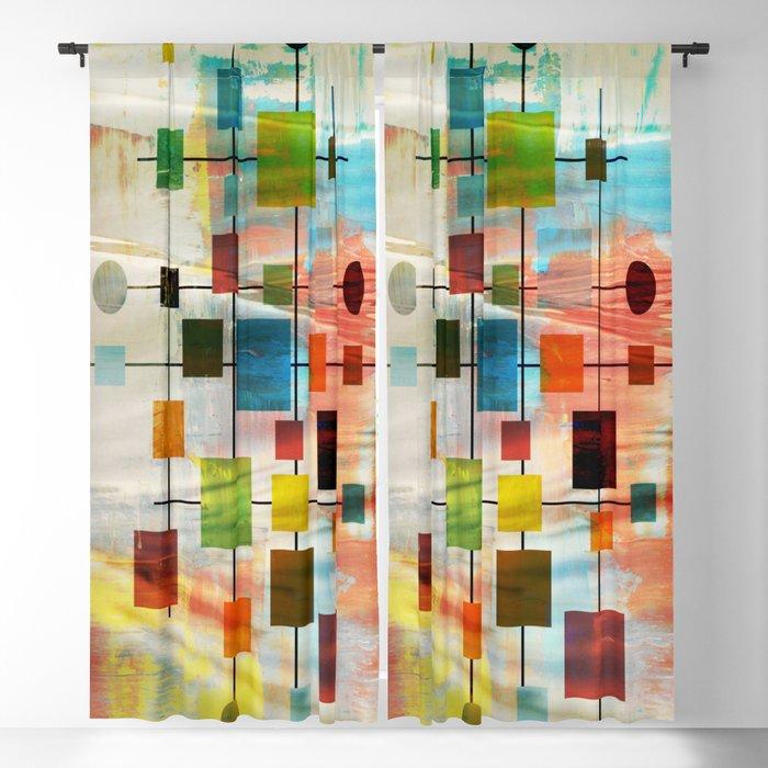 Mid-Century Modern Art 1.3 -  Graffiti Style Blackout Curtain