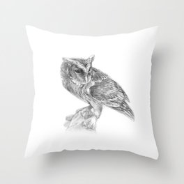 The Giant Scops owl Throw Pillow