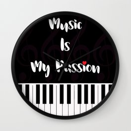 Music Is My Passion : #E Wall Clock