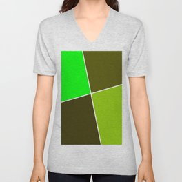 Just three colors 29 green Unisex V-Neck