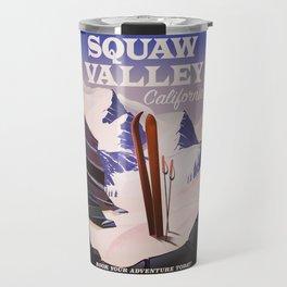 Squaw Valley California Ski poster. Travel Mug