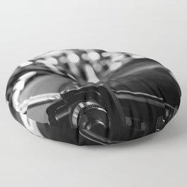 dj turntable record music aesthetic close up elegant mood art photography  Floor Pillow