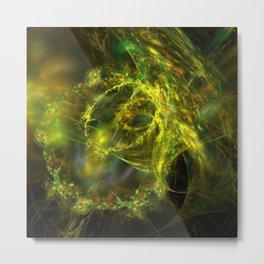 electric lasso fractal design Metal Print
