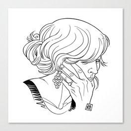 Girl Portrait N°1 (Lili) Canvas Print