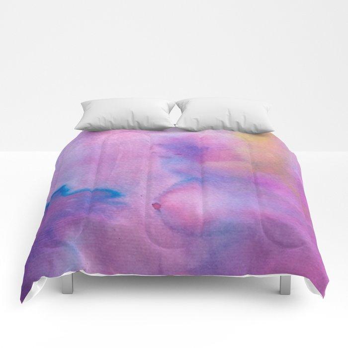Purple Watercolour Comforters