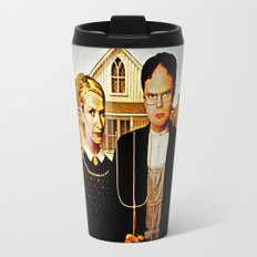 Dwight Schrute & Angela Martin (The Office: American Gothic) Travel Mug