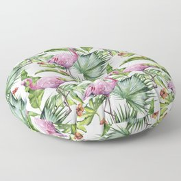 Flamingo Jungle #society6 #buyart Floor Pillow