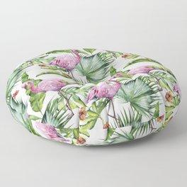 Flamingo Jungle #society6 #buyart Floor Pillow