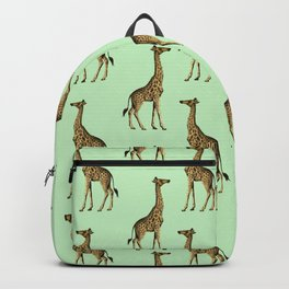 Green Giraffes Pattern Backpack