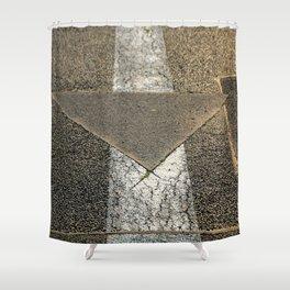 concrete arrow Shower Curtain