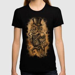 Owl tattoo cute gentleman  T-shirt