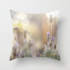 little lavender flower  Throw Pillow