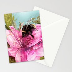 Bee on flower 17 Stationery Cards